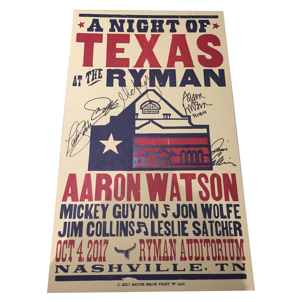 SIGNED Hatch Show Print - Ryman 10/4
