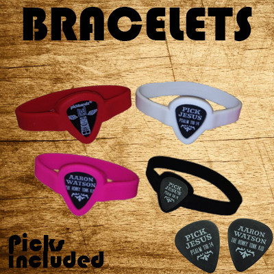 Guitar Pick Holder Bracelet w/ pick included