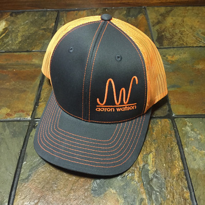 NEON TRUCKER ORANGE AW RANCH BRAND HAT