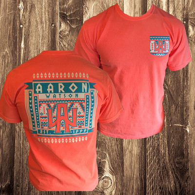 Orange Aztec FAUX Pocket T-shirt
