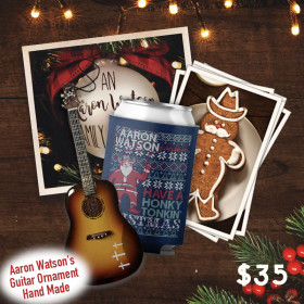 Aaron Watson Christmas Ornament Package