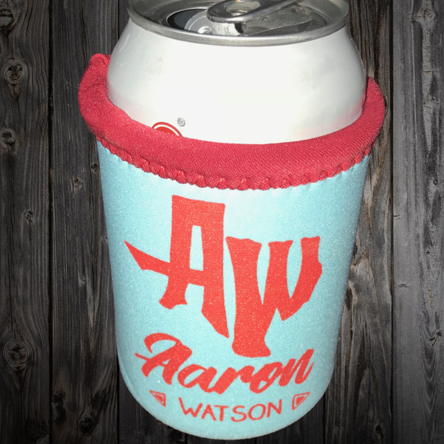 AW Teal Red Two Tone Koozie