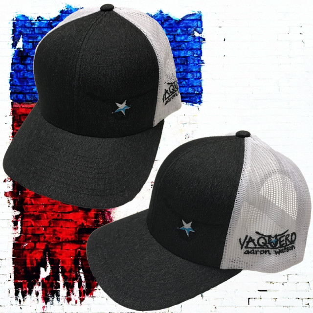 Charcoal and White Vaquero Snap Back Hat