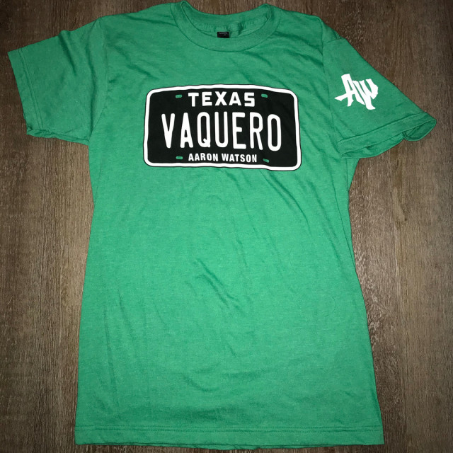 Green Vaquero License Plate Tee