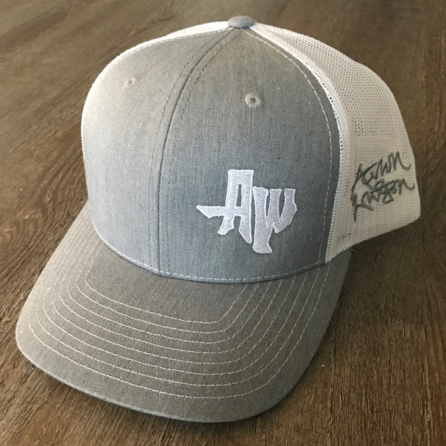 Grey White AW TX Hat